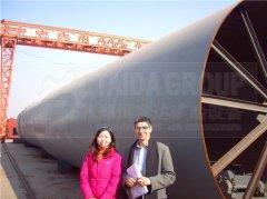 伊朗客户海绵铁回转窑青岛港提货