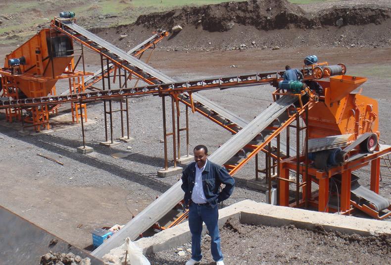 刚果(金)河卵石石料生产线